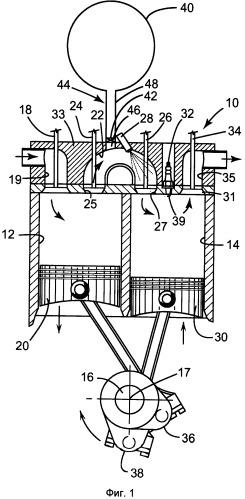Двигатель с расщепленным циклом и способ его эксплуатации