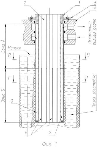 Дорн кристаллизатора машины непрерывного литья полых заготовок