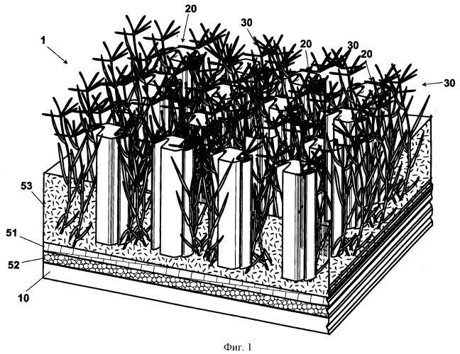 Смешанный травяной покров и способ его изготовления