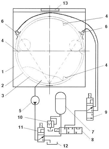 Стиральная машина барабанного типа со струйной обработкой изделий