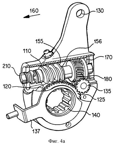Автоматический механизм регулировки зазора с кулачком разъединения муфты