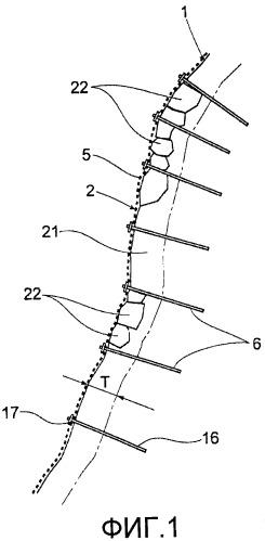 Способ проектирования конструкции, предотвращающей обвал горной породы