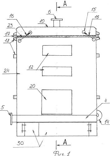 Стальной котел водогрейный автономный разборного типа северный (скварт)