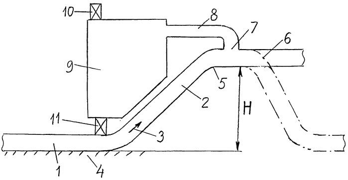 Устройство для удаления воздушных пробок из магистрального нефтепровода