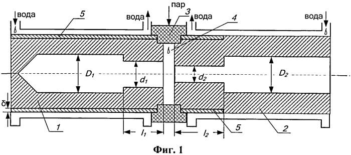 Электродуговой нагреватель водяного пара