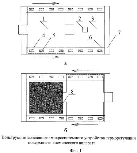 Микросистемное устройство терморегуляции поверхности космических аппаратов