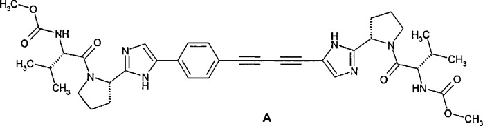 Алкил [2-(2-{5-[4-(4-{2-[1-(2-метоксикарбониламино-ацетил)-пирролидин-2-ил]-3н-имидазол-4-ил}-фенил)-бута-1,3-диинил]-1н-имидазол-2-ил}-пирролидин-1-ил)-2-оксо-этил]-карбамат, фармацевтическая композиция, лекарственное средство, способ лечения вирусных заболеваний