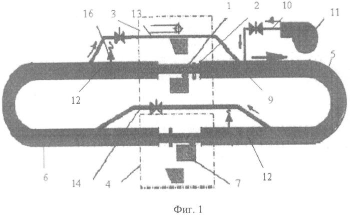 Способ безостановочного перемещения контейнеров в системе контейнерного пневмотранспорта