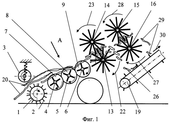 Подборщик-измельчитель стеблей