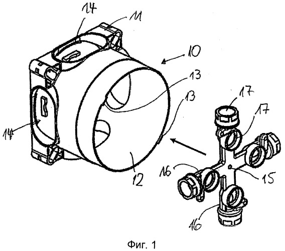 Коробка для скрытого монтажа санитарно-технических элементов