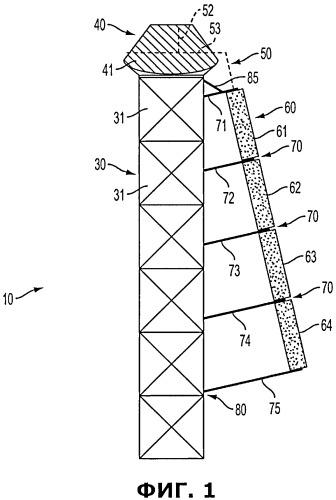 Устройство для термоэлектрического преобразования энергии (варианты) и опорная конструкция для термоэлектрического преобразователя энергии