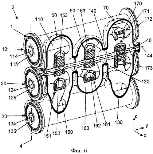 Герметичный модуль с разъединителями для распределительного устройства с газовой изоляцией