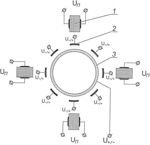 Способ возбуждения колебаний в чувствительном элементе твердотельного волнового гироскопа и устройство для его осуществления