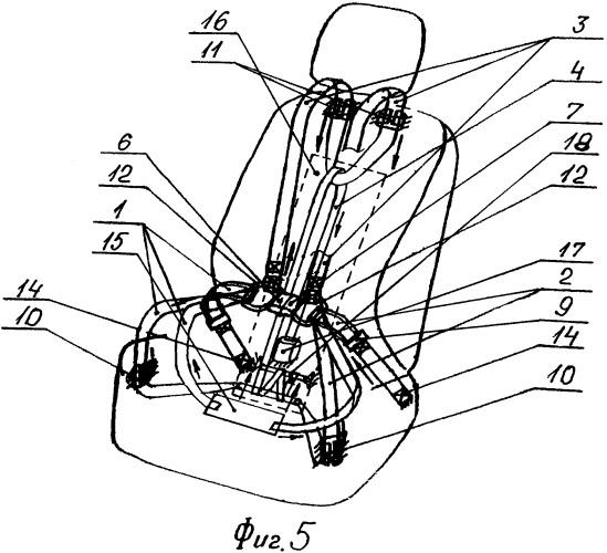 Устройство удержания пользователя на сиденье транспортного средства