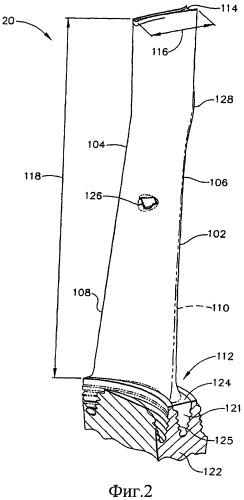 Турбинная лопатка и турбинное колесо, содержащее турбинные лопатки