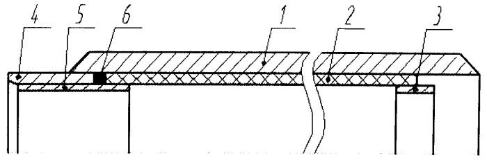 Металлическая труба с внутренней пластмассовой трубой и втулкой подкладной