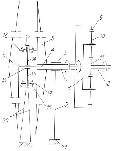 Планетарный привод генератора электрического тока ветроэлектростанции