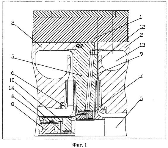 Двухсекционный центробежный компрессор