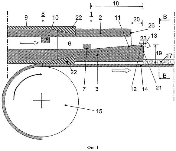 Литьевое сопло для горизонтальной ленточной литейной установки