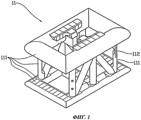 Обладающая положительной плавучестью рама подводного телеуправляемого аппарата и способ ее изготовления