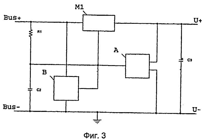 Устройство для обеспечения напряжения питания в шинном узле шинной сети