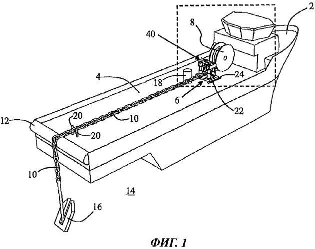 Отрезное устройство, способ резки и применение устройства для резки линии, проходящей от плавучего средства