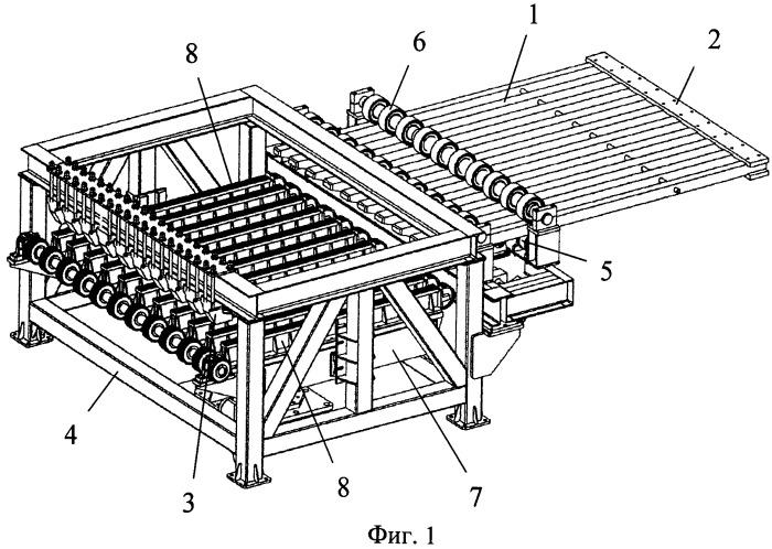 Устройство для выгрузки керамических изделий из шахтной печи