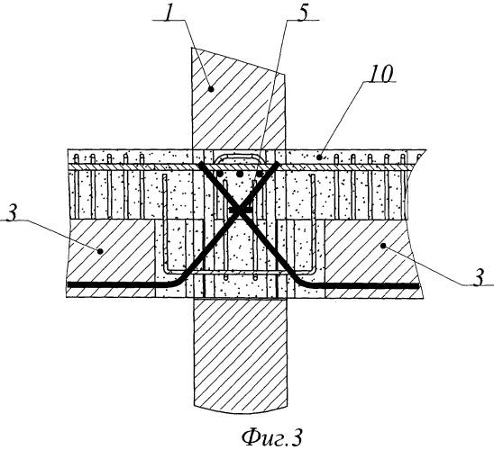 Сборно-монолитный железобетонный каркас здания, сооружения