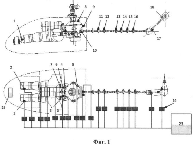 Система сбора данных, контроля и диагностики технического состояния агрегатов привода винтов вертолета и электронный блок
