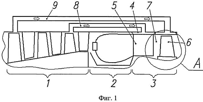Охлаждаемая турбина газотурбинного двигателя