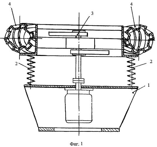 Виброустановка с тороидальной камерой