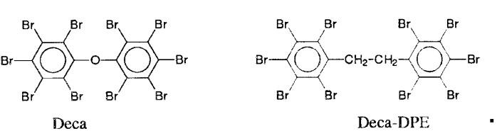 Огнезащитные смеси галогенированных фенильных эфиров