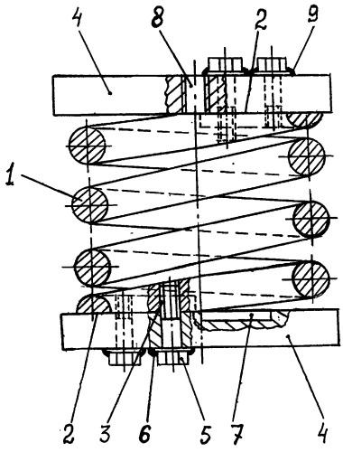 Винтовая пружина растяжения-сжатия для резонансных механических колебательных систем