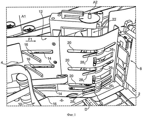 Устройство укладки в стопу на ребро плоских предметов и почтовая сортировочная машина, оборудованная таким устройством
