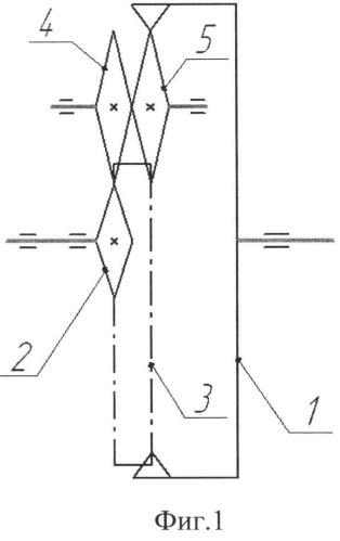 Зубчато-цепная передача с внутренним цепным зацеплением