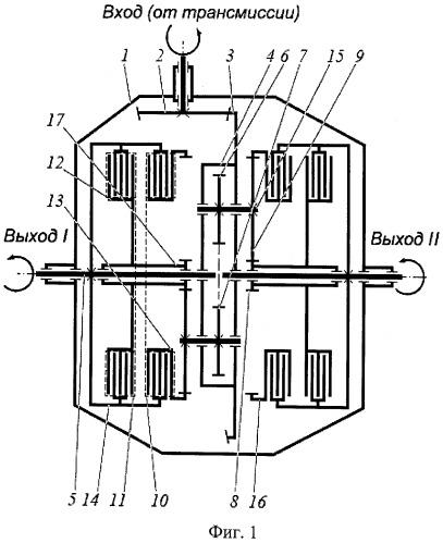Дифференциальный механизм для привода колес или мостов транспортного средства