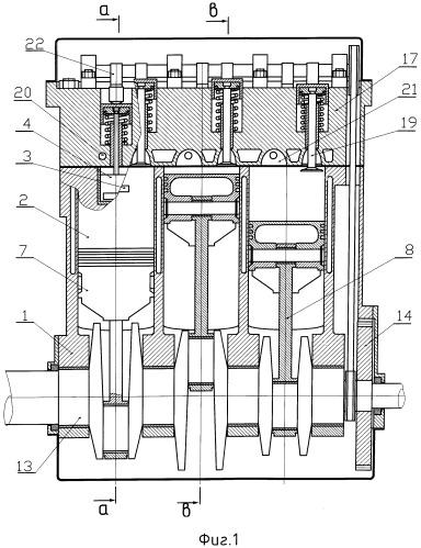 Двухтактный поршневой двигатель