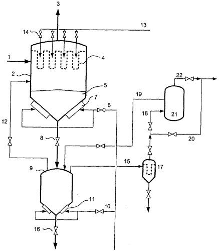 Способ шлюзования пыли, скапливающейся при работе установки пылеудаления для неочищенного газа