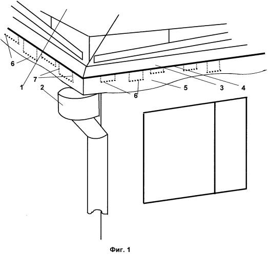 Система предотвращения образования ледяных наростов на крышах