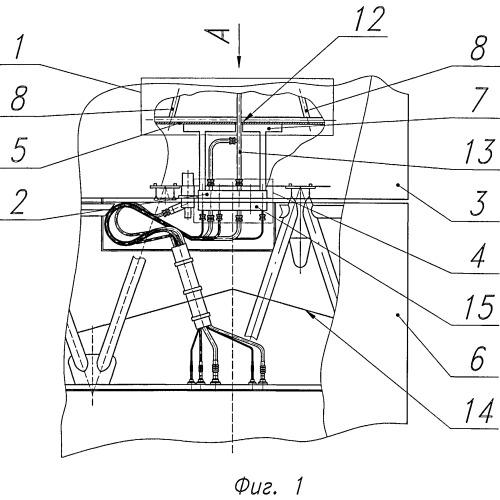 Устройство крепления теплозащиты к раме двигателя (варианты)