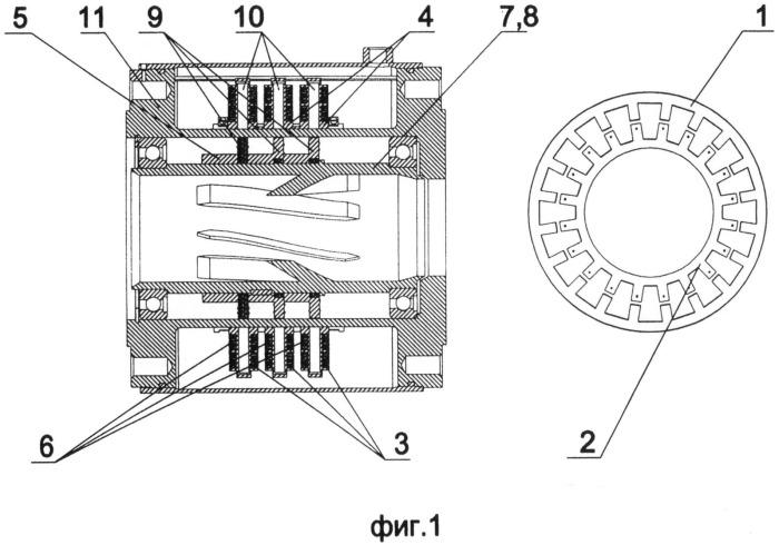 Аксиальная индукторная электрическая машина с электромагнитным возбуждением