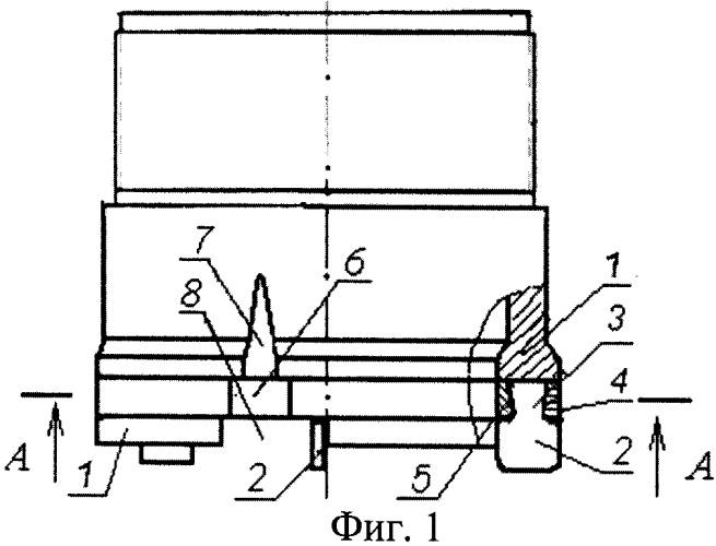 Пазовое соединение для буровых коронок