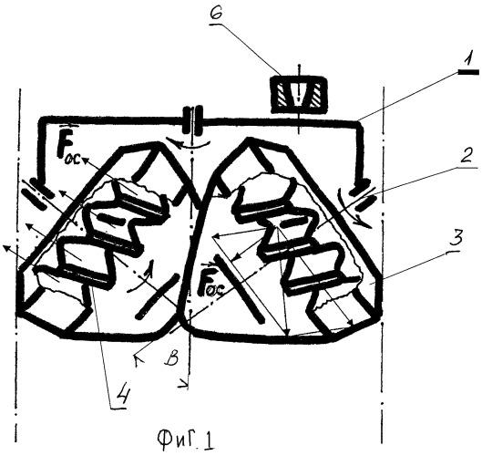 Буровое шарошечное долото с асимметричной схемой промывки