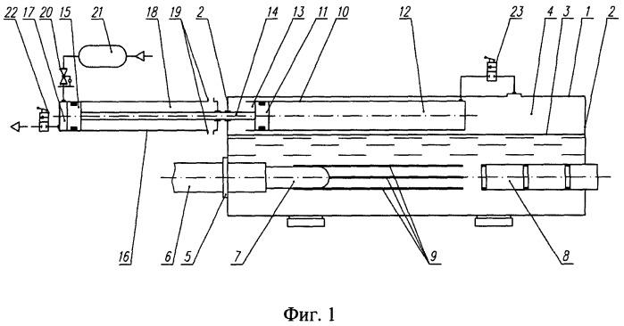 Гидродинамический стенд с системой поддержания давления