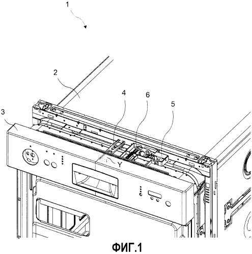 Посудомоечная машина с механизмом автоматического открывания дверцы