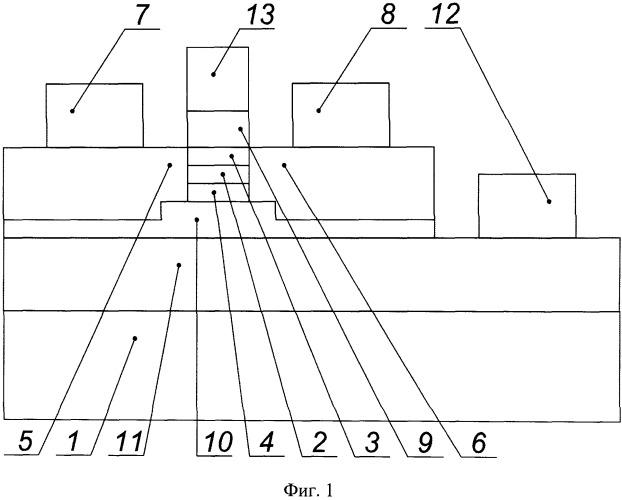Интегральный инжекционный лазер с модуляцией частоты излучения посредством управляемой передислокации максимума амплитуды волновых функций носителей заряда