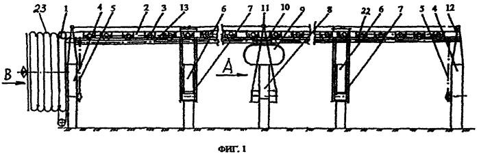 Фронтальный дождевальный агрегат