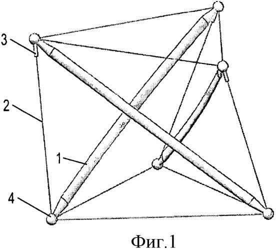 Вантово-стержневая упруго демпфирующая структура (васт)