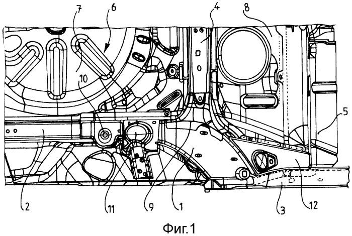 Конструкция задней рамы автотранспортного средства
