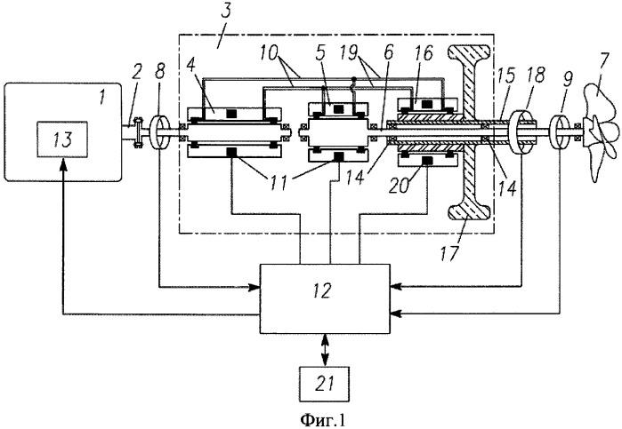 Судовая двигательно-движительная установка с накопителем энергии